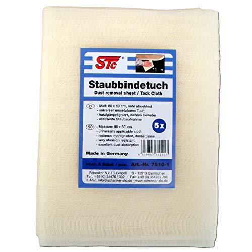 STC Staubbindetücher 5er Pack Honigtuch Staubbindetuch Lack Reinigungstuch für alle Lacke geeignet Maß: 80 x 50 cm Neue Qualität trocknet Nicht aus!