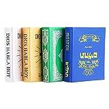 Healifty Miniature para casa de muñecas 4 piezas mini libros en miniatura decoración dormitorio Biblia para objetos de escena fotos casa de muñecas decoración (blanco + azul + verde