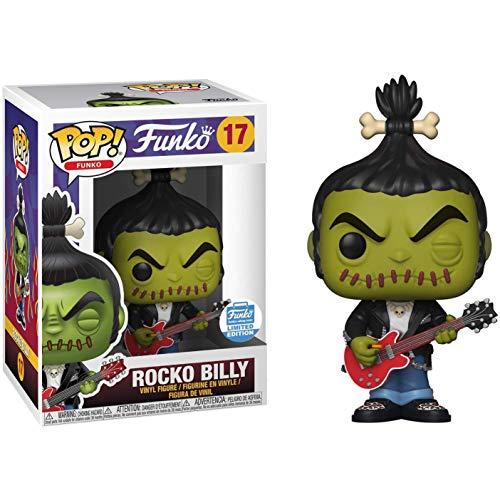 Funko Rocko Billy Shop Exc: Fun ko Pop! Figura de vinilo y 1 paquete protector gráfico compatible (017 - 36541 - B)