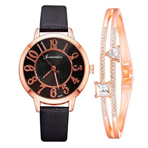 YUEMEI Reloj De Diamantes De Agua Con Pulsera De Estrella De Cinco Puntas, Moda Minimalista Elegante Con Reloj De Cuarzo Para Mujer Con Esfera De Correa Reloj De Regalo (B4)