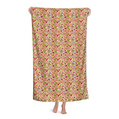 Festive Hippie Infantil Composición De Setas De Secado Rápido,Toallas De Playa Toallas De Baño De Microfibra De Grande,Toallas Grandes Para Adultos