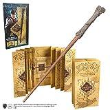 Noble Collection- Réplica Varita Harry Potter y Mapa del Merodeador, Multicolor (0849421004316)