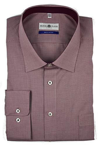 Royal Class Herren Hemd Langarm Businesshemd Bügelfrei Baumwolle Regular 47 48 49 (47)