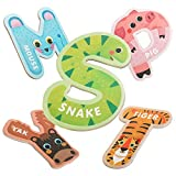 JOCHA ABC Letter Cute Animals Fridge Jumbo Large Alphabet Magnets Preschool Learning Spelling Stick Refrigerator Magnetic Uppercase Colorful Game Toys Set for Kids Toddlers 3 4 5 Years Old