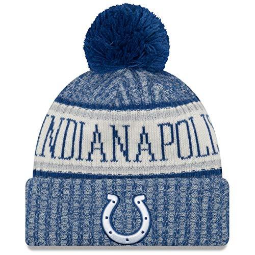 New Era Indianapolis Colts Bommelmütze - NFL Sideline Knit - Blau, Blau, Einheitsgröße