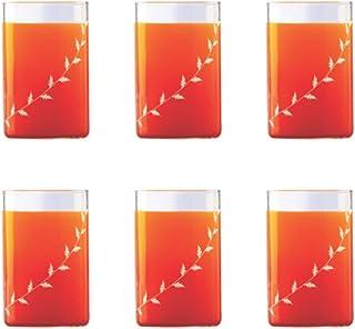 Borosil Large Vision D'signer Glass, 350ml, Set of 6-Pieces