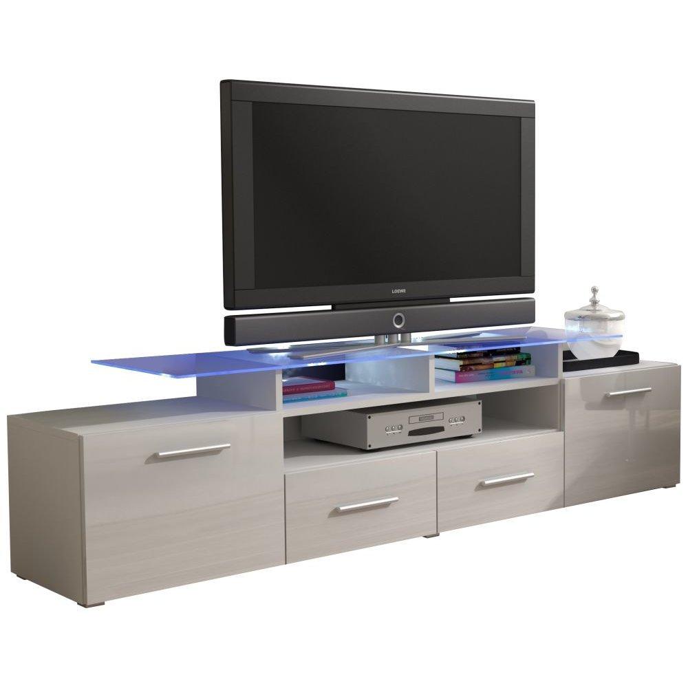 JUSTyou Evoro Mueble para TV Mesa televisión salón 194 cm Color: Blanco: Amazon.es: Hogar