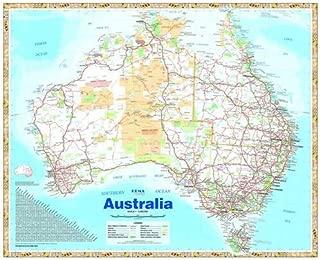 Australia Hema 750 x 625mm Handy Map Laminated Wall Map