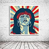 Pop Art Nena Poster im Rahmen - 95 x 95 cm - Gerahmtes