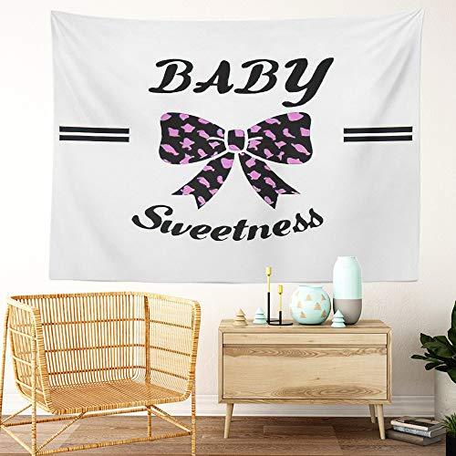 Y·JIANG Tapiz ABC, elegante y moderno, diseño de eslogan negro a la moda, decoración para el hogar, dormitorio, 152,4 x 127 cm