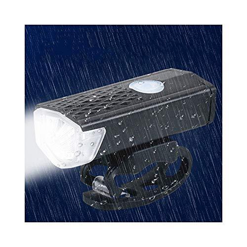 Fahrradlicht USB Wiederaufladbarer 300-Lumen-3-Modus-Fahrradscheinwerfer Wasserdichter 6000K-Fahrradscheinwerfer