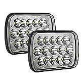 H6054 Led Headlights AAIWA 7x6 5x7 45W Sealed Beam Headlight 2PCS Hi/Low Rectangle Headlamp Replacement for Wrangler YJ Cherokee XJ Trucks 4X4 Offroad 6054 H5054 H6054LL 69822 6052