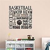 Baloncesto letras vinilo pared calcomanía cita deporte pegatina decoración del...