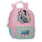 Disney Minnie Mermaid Mochila Guardería Rosa 19x23x8 cms Poliéster 3.5L