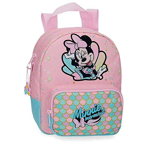 Disney Minnie Mermaid Mochila Guardería Rosa 19x23x8 cms Poliéster 3.5L