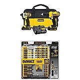 DEWALT DCK240C2 20v Lithium Drill Driver/Impact Combo Kit (1.3Ah) with FlexTorq Screw Driving Set, 40-Piece