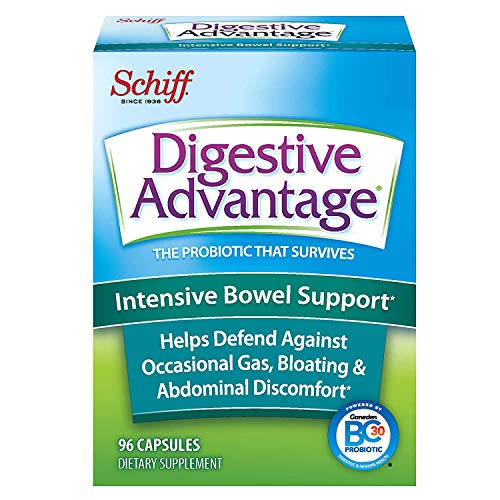Bugzy Digestive Advantage Probiotics-Intensive Bowel Support Probiotic Capsules, 96 Capsules