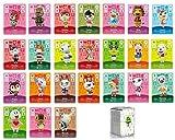 CONTENU : 1 Boite transparente avec un Lot de 24 Mini cartes de jeu de 25 à 48 pour Amiibo Animal Crossing New Horizon et New Leaf. Elles permettent d'inviter de nouveaux villageois sur votre île comme les Amiibo. COMPATIBLE : Carte à utiliser sur le...