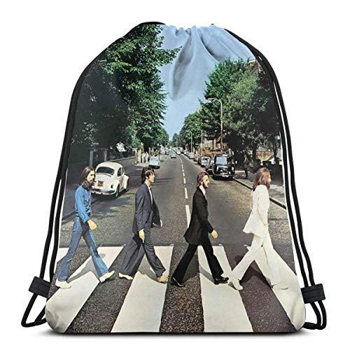 BFGTH sac de cordon Abbey Road 50th Anniversary Thebeatles Funny Drawstring Bag Shoulder Bags Sport Storage Bag For Man Women