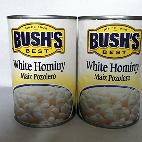 White Hominy Two 15.5oz Cans of Bush's Best