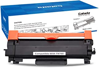 Galada Compatible Toner Cartridge Replacement for Brother TN760 TN-760 TN730 TN-730 for DCP-L2550DW MFC-L2710DW MFC-L2750DW MFC-L2750DWXL HL-L2350DW HL-L2370DW HL-L2370DWXL(1 Pack with Chip)