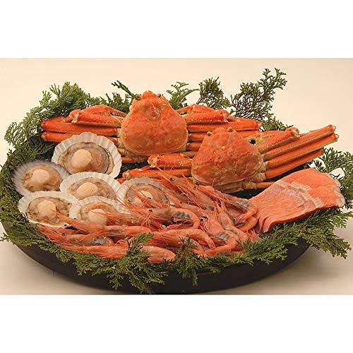 ( 産地直送 お取り寄せグルメ ) 北海の味覚100(ず350g×2尾、紅鮭3切、片貝6枚、エビ500g)