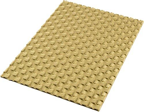 silikomart Tappeto Decorativo in Silicone Magic buche Mat, Colore Oro, 25 x 18.5 x 0.6 cm