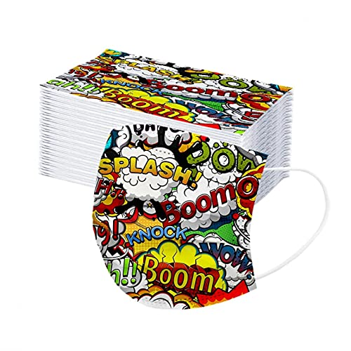 YpingLonk 50Pcs Niños Infantil Bufanda, Infantiles Colores para Bufanda 3 Capas Surtidos,Dibujos Animados para Actividades Aire Libre, Patrón Escuela, Fiesta