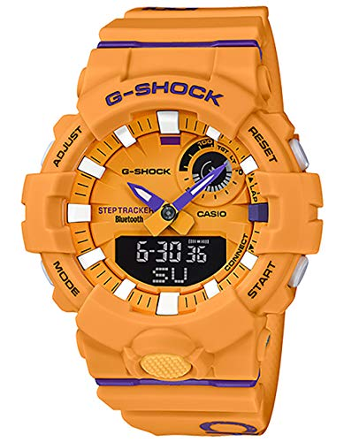 G-Shock Men's Analog-Digital GBA800DG-9A Automatic-Self-Wind Resin Watch Yellow