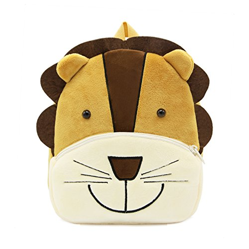 Cute Toddler Backpack Stuffed Cartoon Animal Mini Schoolbag For 1-5 Year Old Boys And Girls (Lion)