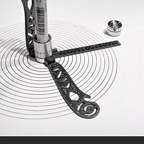 Magic Ultimate Design Tool ionacoco Magcon Gebogenes Metallic-Multifunktionslineal Mini-Kompass-Winkelmesser Kreatives Zeichnen von Combo-Kreisen (1 Set)