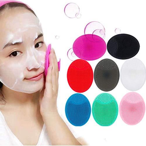 SHUILAI Folding Chairs 8 Farben-Silikon-Schönheit Waschen Pad Silikon-Gesichtsreinigungsbürste...