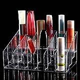 TRIXES Organizador Maquillaje claro 24 maquillaje lápiz labial cosméticos almacenamiento pantalla...