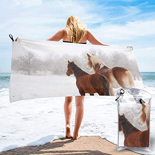 Beach Towels Toalla ligera de secado rápido para caballos Toalla súper absorbente sin arena para viajes, natación, gimnasio, yoga 140X70CM