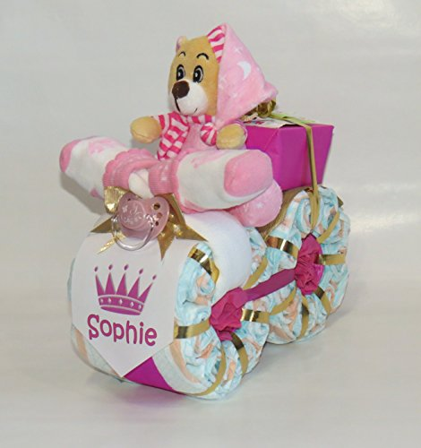"Windeltorte - Windelmotorrad""Prinzessin"" rosa"