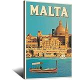 Vintage-Reise-Poster, Malta, Leinwand, Kunstdruck, Bild,