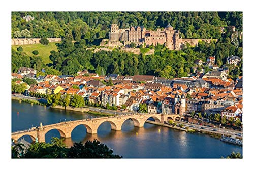 Histórico Rompecabezas   Heidelberg   Cada Pieza es única, Piezas encajan Perfectamente (300/500/1000/1500 Madera Piezas) (Size : 300pcs)