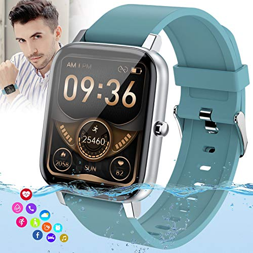 Burxoe Smart Watch, Bluetooth Smartwatch for Android Phones,Ip67 Waterproof Fitness Watch with Blood Pressure Heart Rate Monitor Activity Tracker with Pedometer Compatible for Samsung iOS Women Men