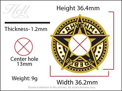 Hell Guitars スイッチワッシャー STAR ゴールド / ギター スイッチワッシャー Gibson/エピフォンなど 多機種に対応!100%真鍮&エナメル Hell Guitarsオリジナルデザイン Star ゴールド