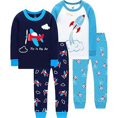 CoralBee Pajamas for Boys Kids Rocket Airplane ...