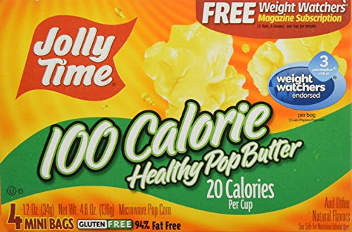 Find Discount Jolly Time Microwave Pop Corn Healthy Pop Butter 100 Calorie 4-pk