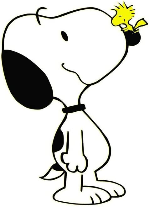 Set of 3 - Snoopy Peanuts Woodstock - Sticker Graphic - Auto, Wall, Laptop, Cell, Truck Sticker for Windows, Cars, Trucks