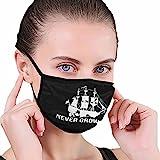 CDKZ - Mascarilla facial para adulto Pe-TER Pan - Ne-Ver GRO-W Up Unisex Tela lavable reutilizable cubierta de la boca facial a prueba de polvo