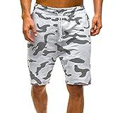 Pantalones Cortos Hombre Deporte Verano 2019 Nuevo SHOBDW Casual Camuflaje Pantalones Hombre Chandal Cordón Fitness...