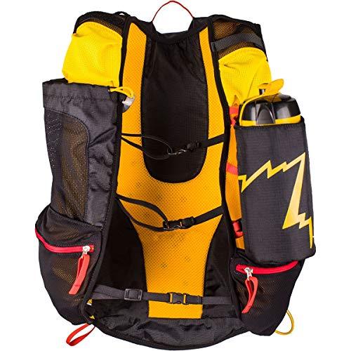 La Sportiva Unisex-Erwachsene Course Backpack Rucksack, Mehrfarbig (Black/Yellow), 24x36x45 centimeters