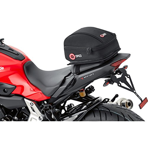 QBag Hecktasche Motorrad Motorradtasche Hecktasche Motorrad 03, Motorradgepäck für Soziussitz/Gepäckträger, Motorrad Hecktasche, 5 Liter Stauraum, leichtes Be-/Entladen, schwarz