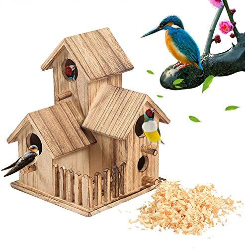 Caja para Pájaros Caja De Madera para Cría De Pájaros Casa Jardín Pájaros Pequeños, Caja Pequeña para Cría De Loros, para Nido De Pájaros, Jardinería Al Aire Libre