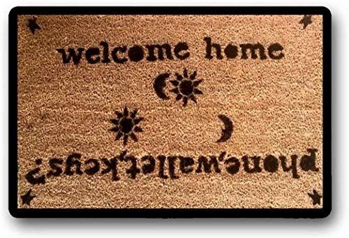 solatman uitgangen + ingangen klassieke handgemaakte deurmat: telefoon portemonnee sleutels? Welkom thuis 45x75CM