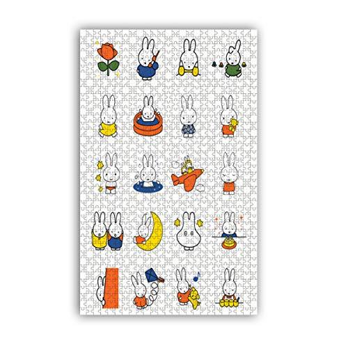 Miffy-Puzzle, klassische Malerei, 1000 Teile, Heimdekoration, Wanddekoration, Spiel, Stressabbau, für Erwachsene und Kinder