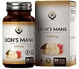EN Melena de Leon 1000mg por Porcion | 90 Capsulas Veganas de Alta Potencia | Lions Mane Nootropicos | Sin OGM, Gluten, Lacteos o Alergenos